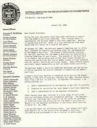 Opa-Locka Branch of the NAACP Memorandum, January 25, 1988