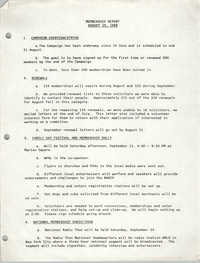 Membership Report, Charleston Branch of the NAACP, August 10, 1988