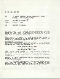 NAACP Memorandum, August 8, 1988