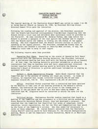 Minutes, Regular Meeting, Charleston Branch of the NAACP, January 28, 1988