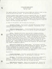 Minutes, Regular Meeting, Charleston Branch of the NAACP, July 30, 1987
