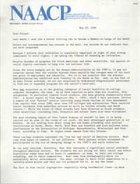 Letter from Benjamin L. Hooks to NAACP Friends, May 29, 1990