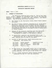 Charleston Branch of the NAACP Education Committee Report, June 5, 1990
