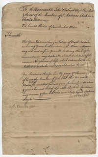 Jane Duckett's Petition Letter for the St. Andrew's Society