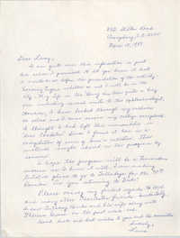 Letter from Laura Heyward Gregg to Leroy F. Anderson, March 15, 1989