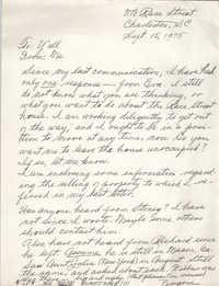 Memorandum from Eugene C. Hunt, September 15, 1975