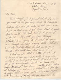 Letter from Lillie Florence to Eugene C. Hunt, August 13, 1949