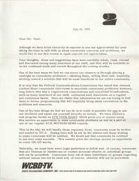 Letter from Carter C. Hardwick, Jr. to Eugene C. Hunt, July 15, 1975