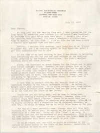 Letter from John M. Oates to Steven P. Williams, July 16, 1976