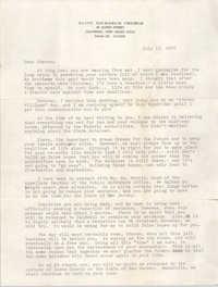 Letter from John M. Oates to Steven P. Williams, July 16, 1976