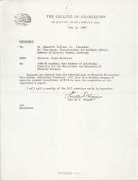 College of Charleston Memorandum, June 25, 1980