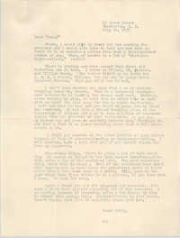 Letter to Eugene C. Hunt, July 26, 1958
