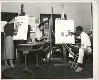 Photograph of People in a Painting Class at Talladega College