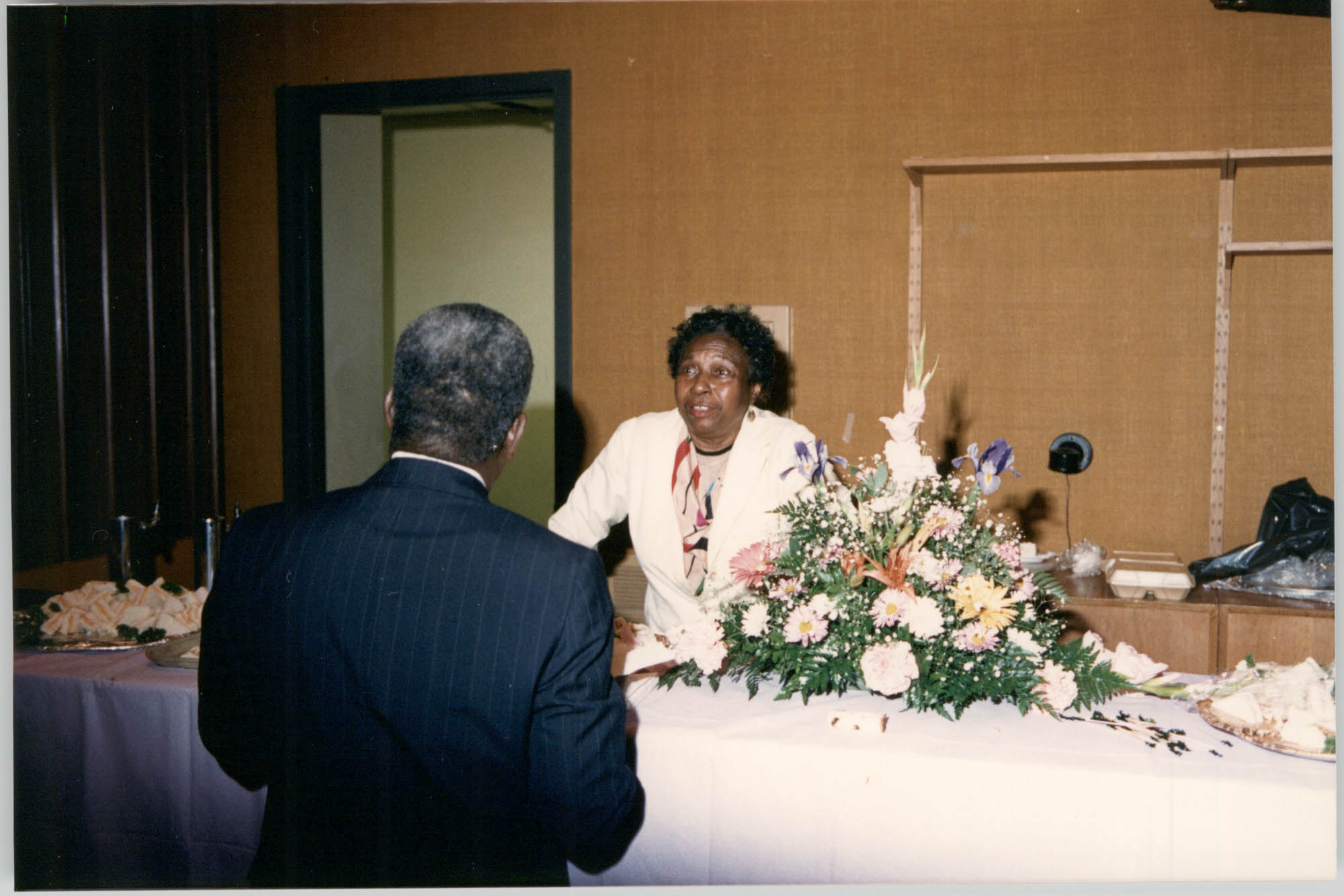 Photograph of a Man and a Woman at a College of Charleston Event