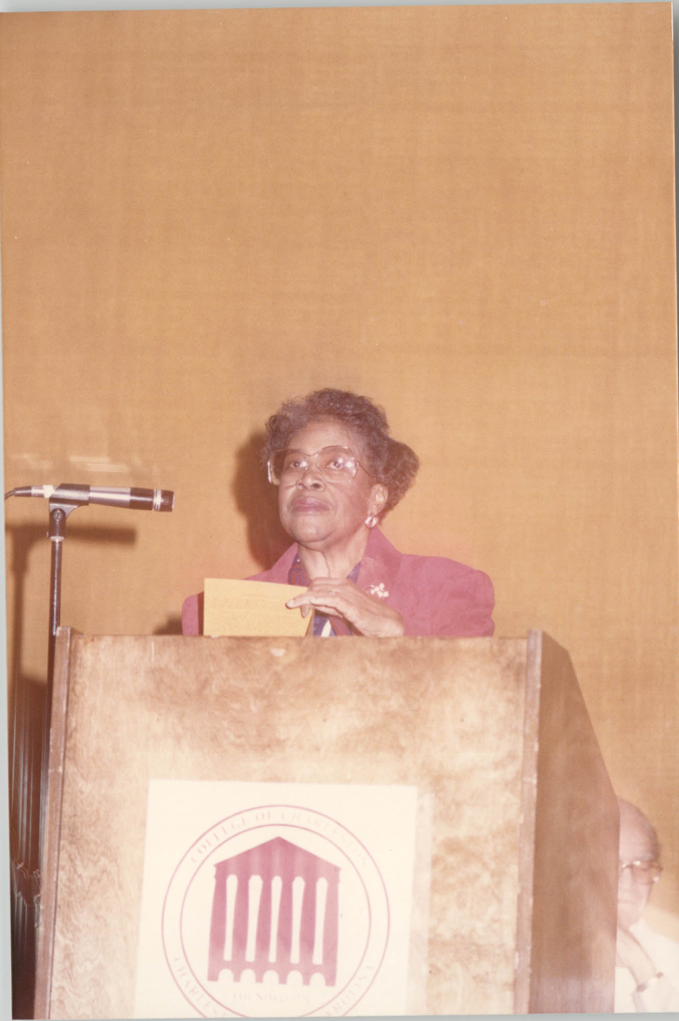 Photograph of Lucille Whipper at a College of Charleston Event