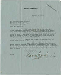 Letter from George Gershwin to Meltzer, August 3, 1928