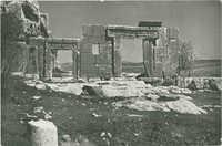 מירון, חזית בית הכנסת העתיק / Meyron, façade of ancient synagogue