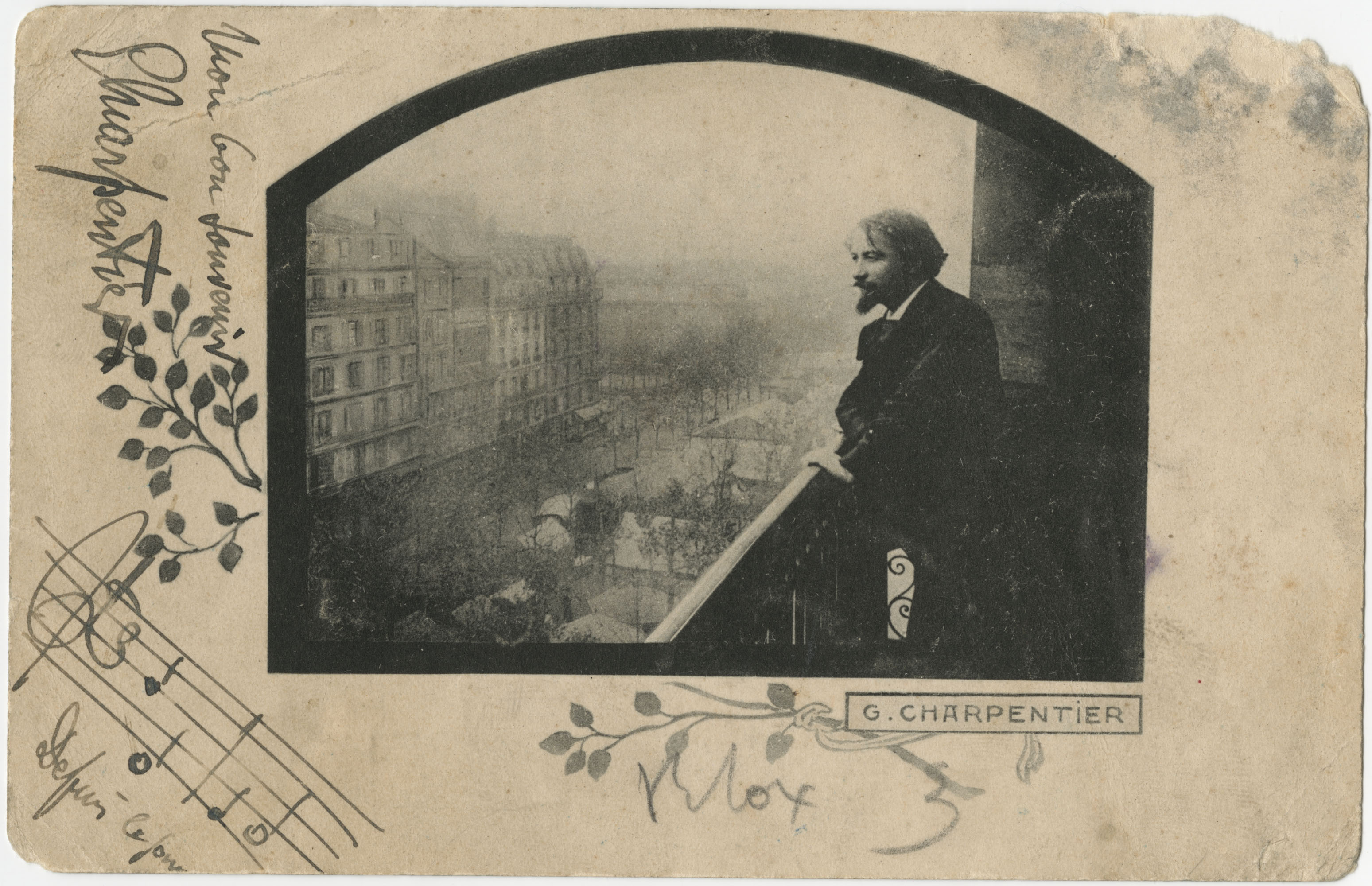 Picture Postcard from Gustave Charpentier to Meltzer