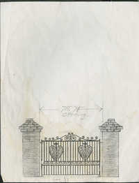 91 Anson Street gate and brick columns