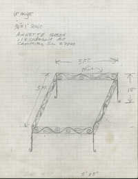 Coffee table design for Annette Green