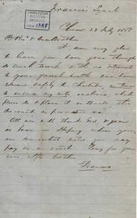 009. Francis Lynch to Bp Patrick Lynch -- July 23, 1858