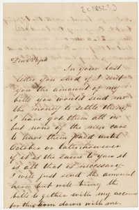 417.  Edward Barnwell to William H. W. Barnwell -- ca. 1852