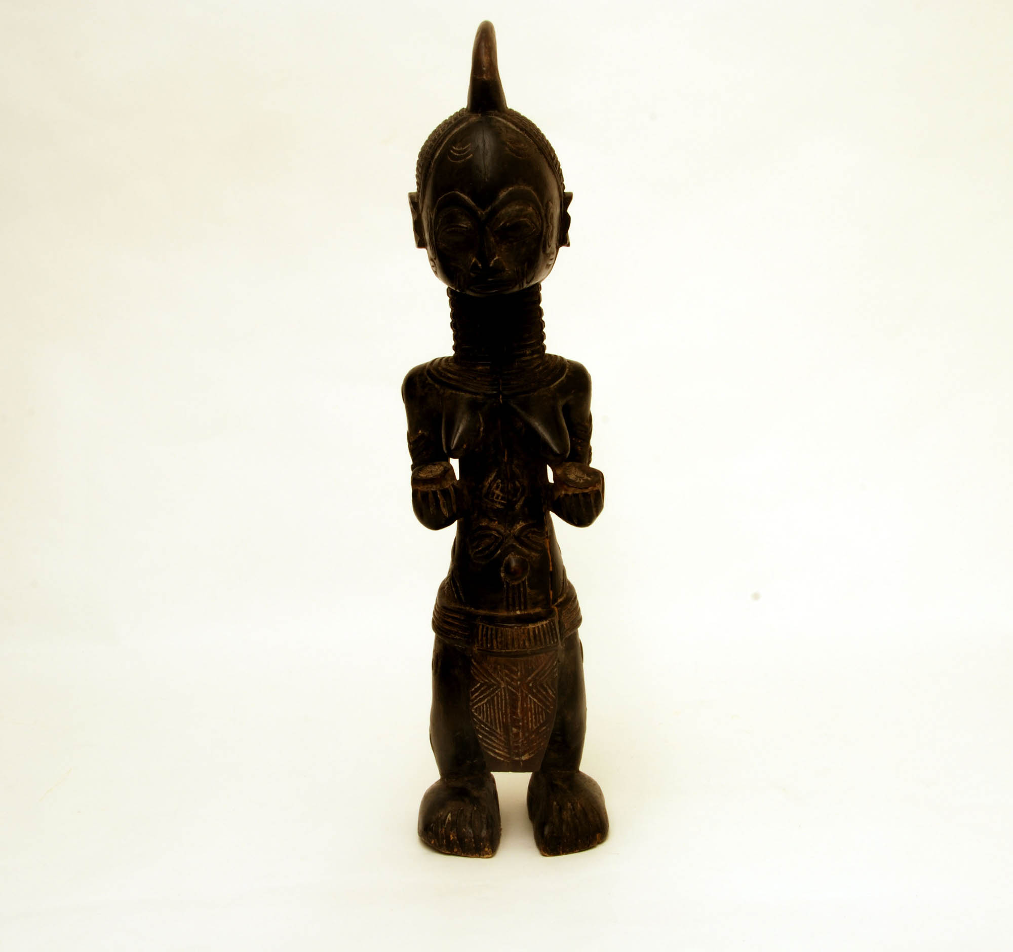 Female wooden statue