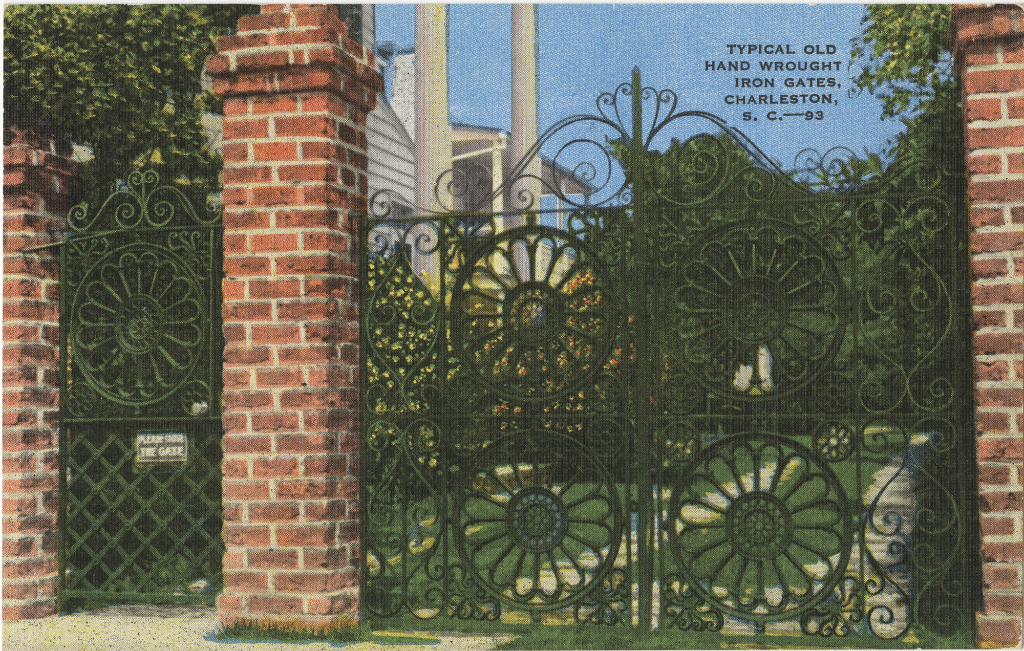 Typical Old Hand Wrought Iron Gates, Charleston, S.C.