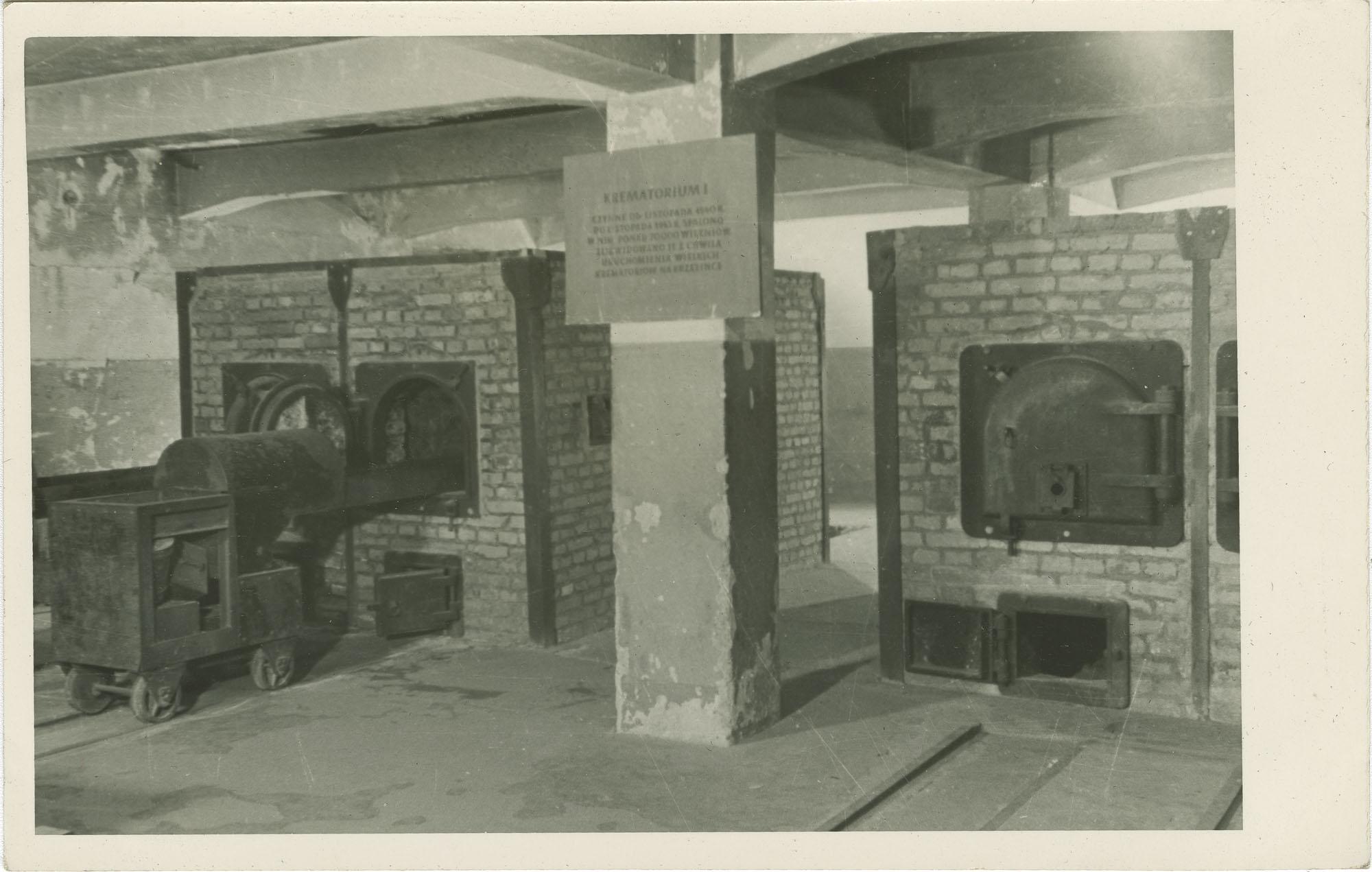 Państwowe Muzeum - Oświęcim. Piece w krematorium Nr. 1.