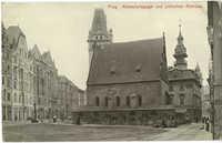 Prag. Altneusynagoge und jüdisches Rathaus.
