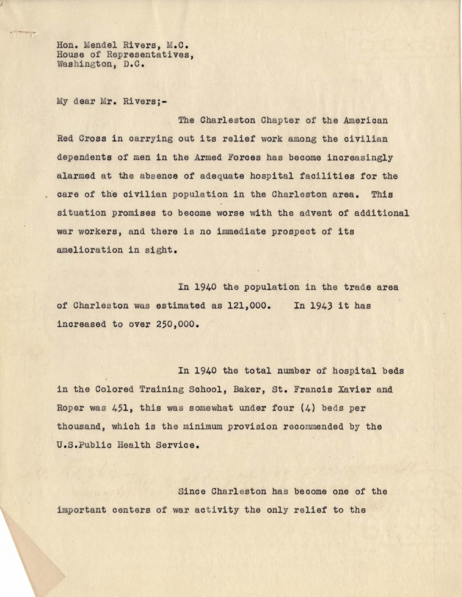 Folders 52-61: Albert Simons Letter 2