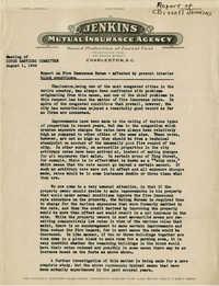 Folder 43: Fire Insurance Rates Report