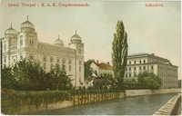 Israel. Tempel. - K. u. K. Corpskommando. Sarajevo.