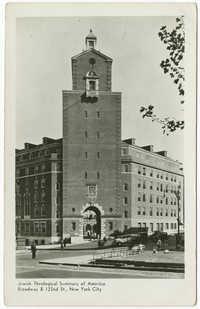 Jewish Theological Seminary of America. Broadway & 122nd St., New York City