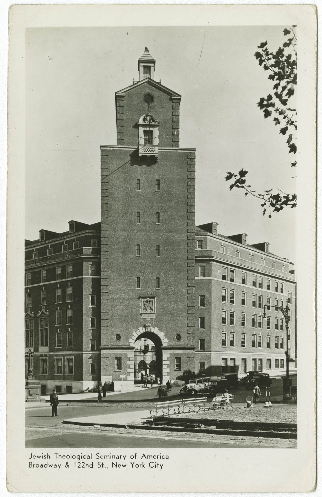 Jewish Theological Seminary of America. Broadway & 122nd St., New York City