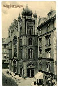 Die Haupt-Synagoge der Israel. Gemeinde auf der Börnestrasse in Frankfurt a.M.
