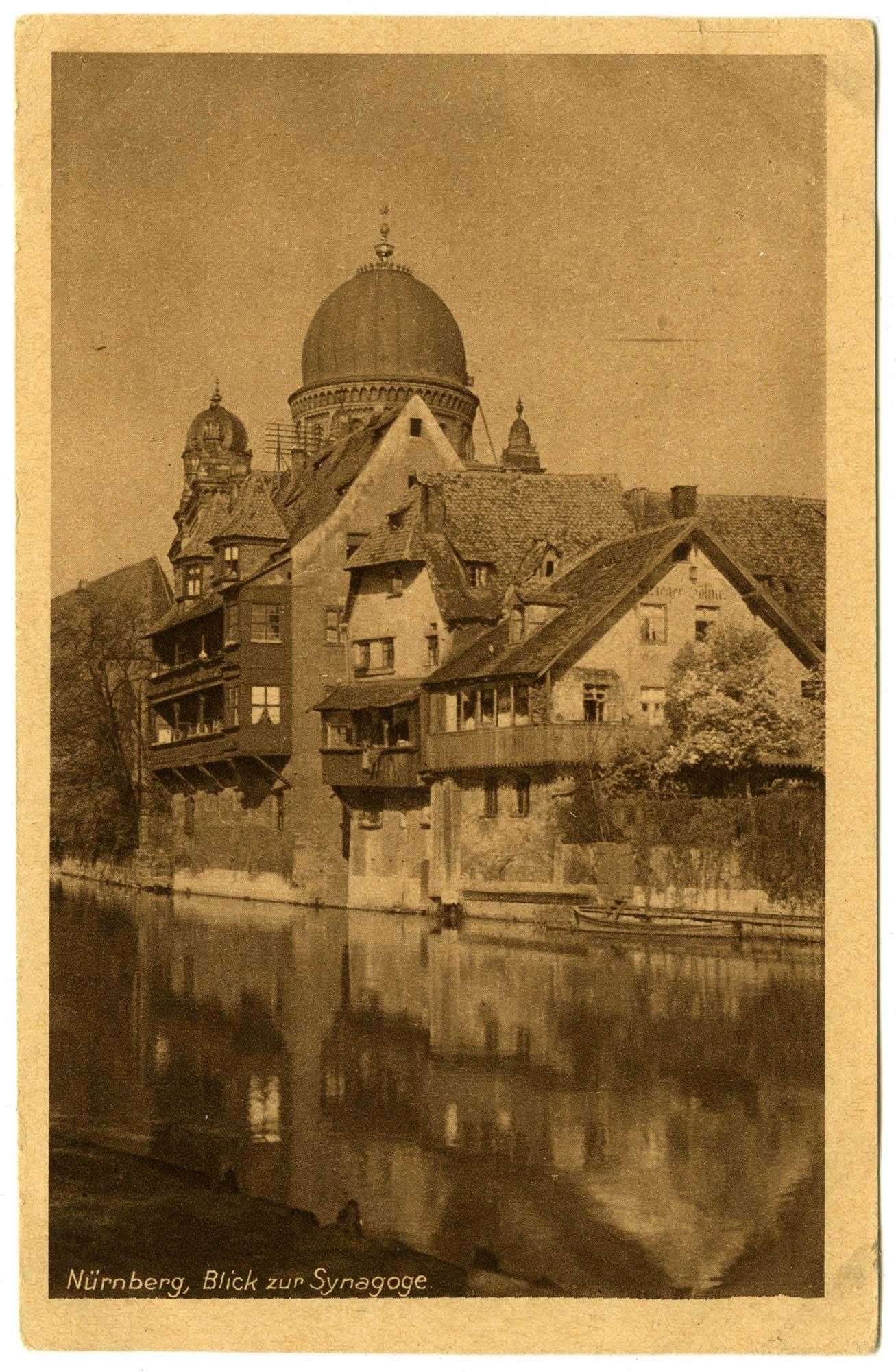Nürnberg, Blick zur Synagoge