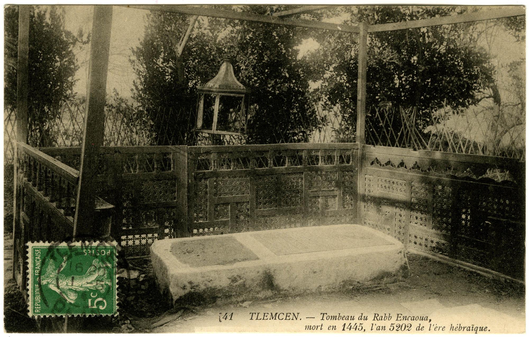 Tlemcen. - Tombeau du Rabb Encaoua, mort en 1445, l'an 5202 de l'ère hébraïque.