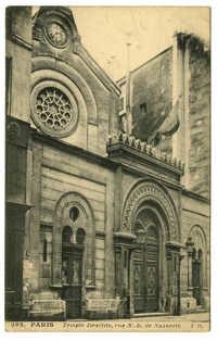 Paris, Temple Israélite, rue N.-D. de Nazareth