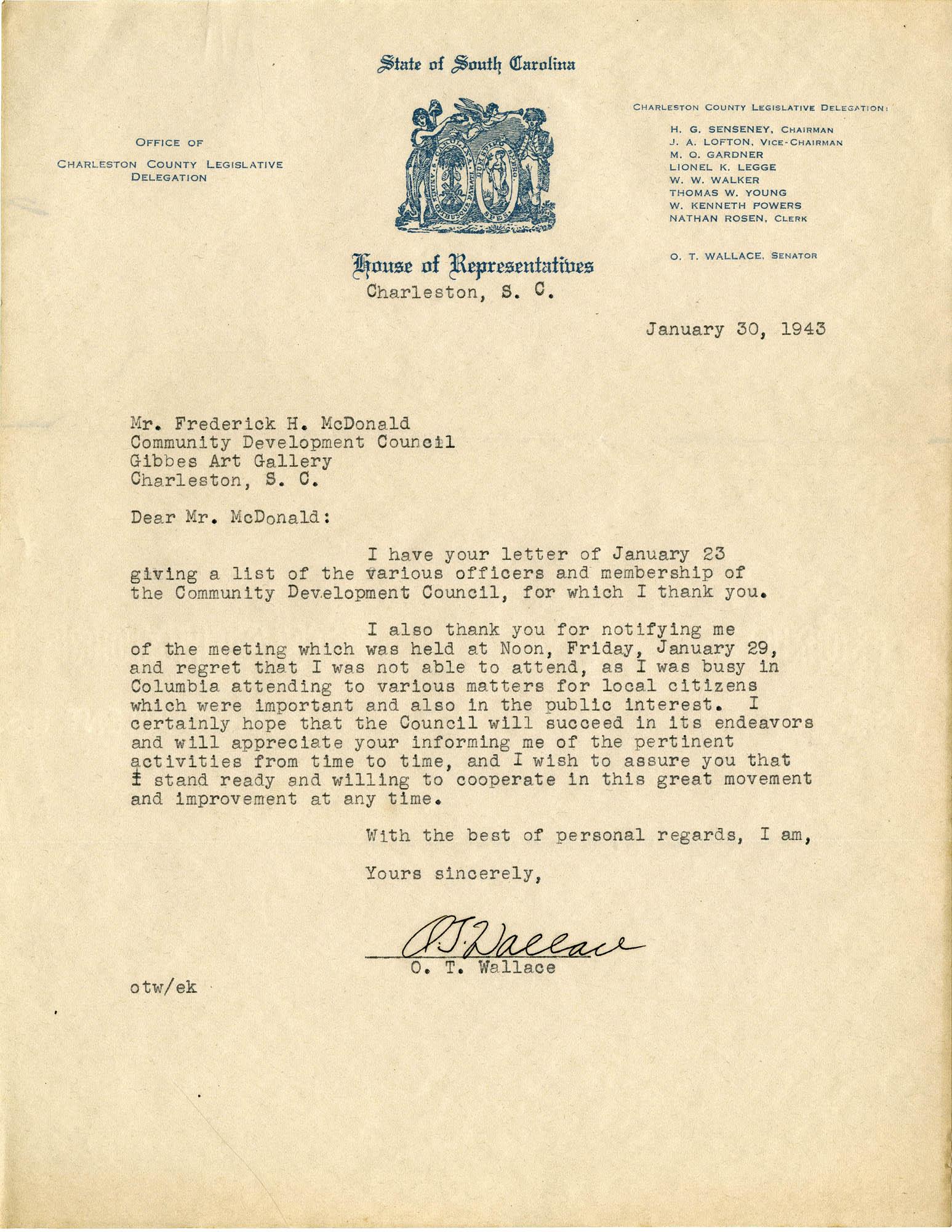 Folder 32: Wallace Letter 2