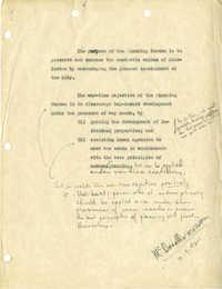 Folder 33: Planning Bureau Objectives