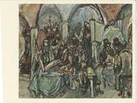 Weber, M. - Interior of Synagogue / ובר, מ. פנים בית כנסת