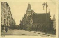 Prag. Niklasstrasse. Synagoge.