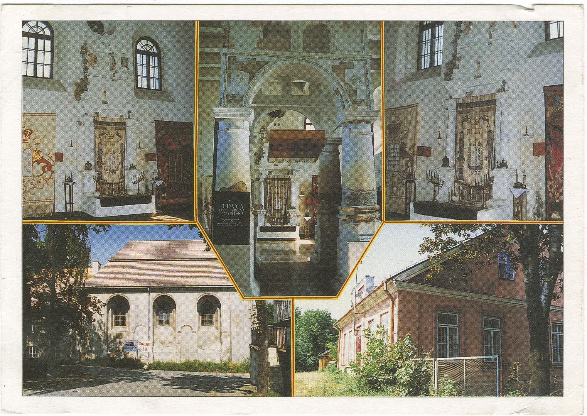 Łęczna. Wnętrze późno-renesansowe synagogi z XVII w., obecnie Muzeum Regionalne.