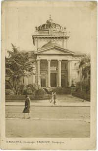 Warszawa. Synagoga. / Varsovie. Sinagogue.