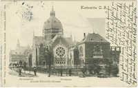 Kattowitz O. S. Gymnasium. Synagoge. August Schneider-Strasse.