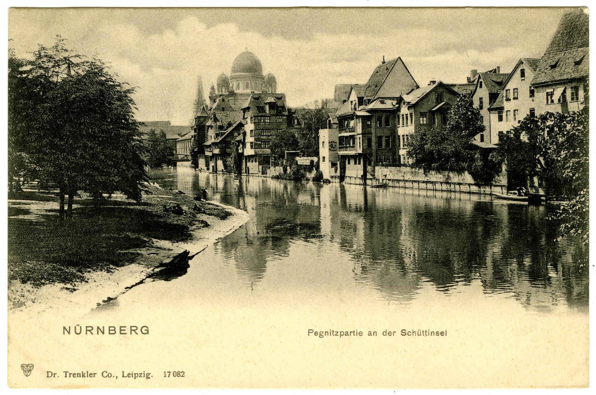 Nürnberg, Pegnitzpartie an der Schüttinsel