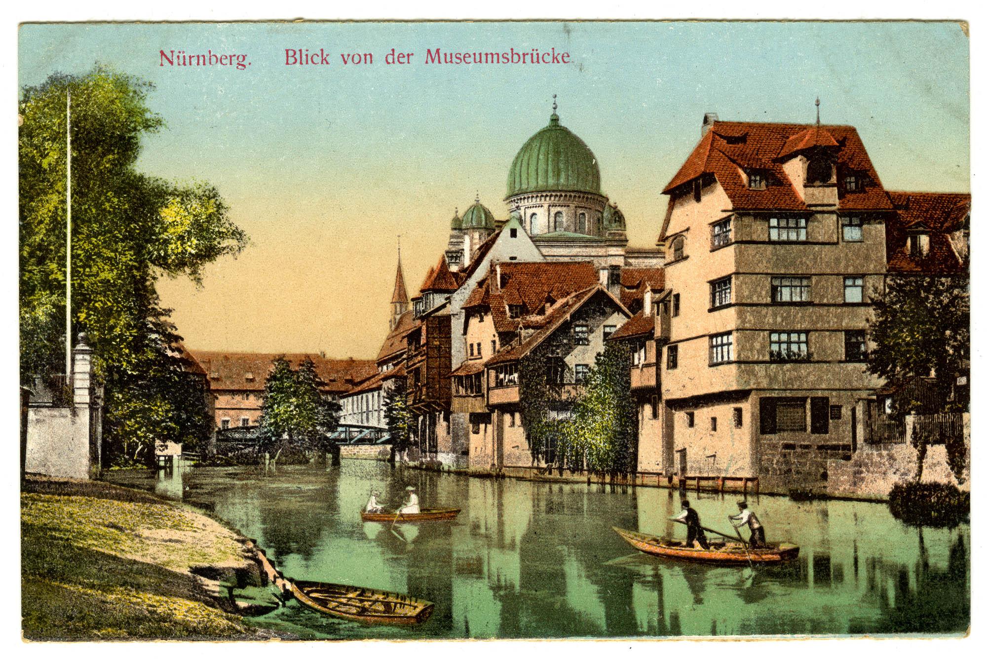 Nürnberg. Blick von der Museumsbrücke.
