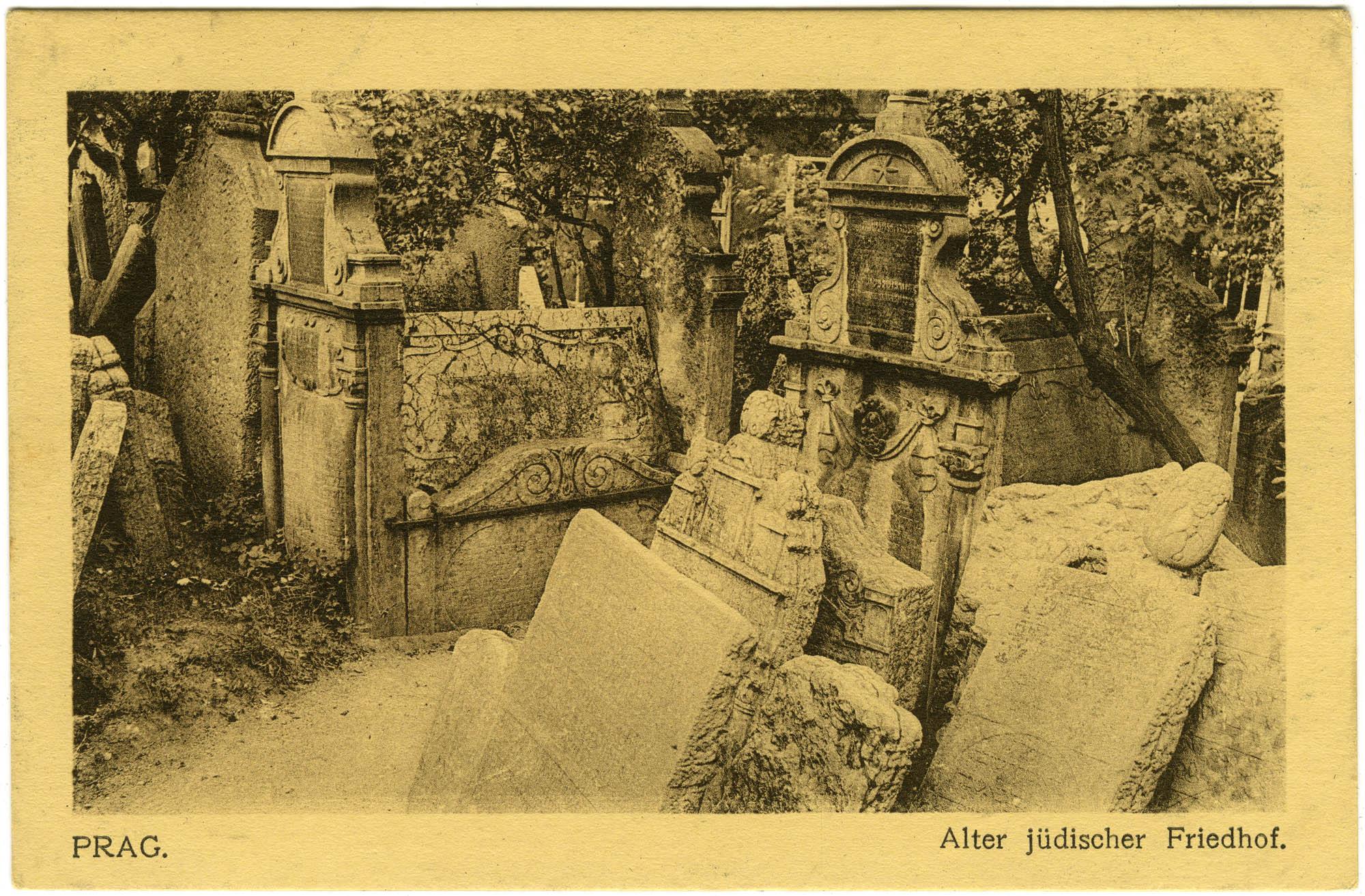 Prag. Alter jüdischer Friedhof.