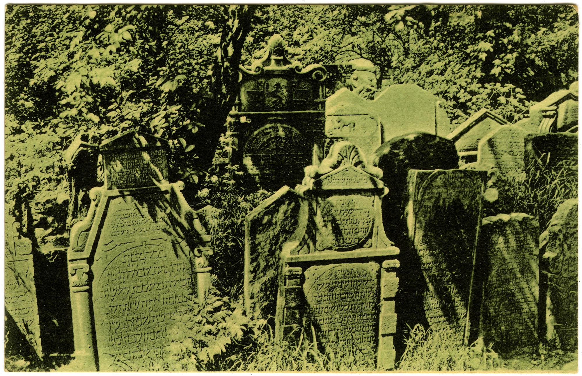 Prag. Alter Judenfriedhof.
